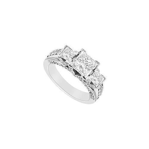Diamond Engagement Ring : 14K White Gold - 1.50 CT Diamonds-JewelryKorner-com