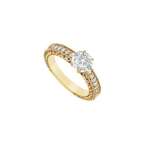 Diamond Engagement Ring : 14K Yellow Gold - 0.75 CT Diamonds-JewelryKorner-com