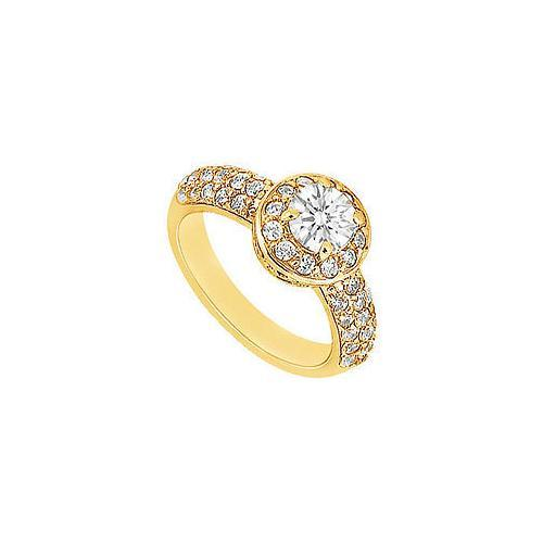 Diamond Engagement Ring : 14K Yellow Gold - 1.25 CT Diamonds-JewelryKorner-com