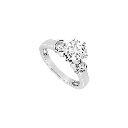 Diamond Engagement Ring : 18K White Gold - 0.50 CT Diamonds-JewelryKorner-com
