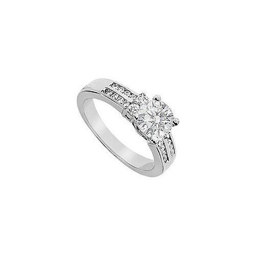 Diamond Engagement Ring : 18K White Gold - 0.75 CT Diamonds-JewelryKorner-com