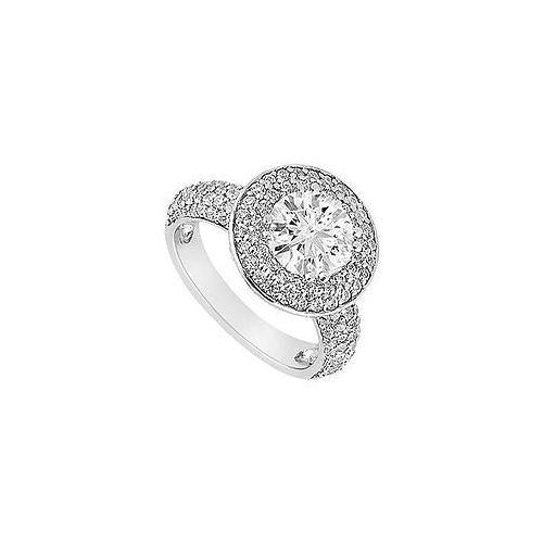 Diamond Engagement Ring : 18K White Gold - 1.25 CT Diamonds-JewelryKorner-com