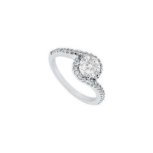 Diamond Engagement Ring : Platinum - 0.75 CT Diamonds-JewelryKorner-com