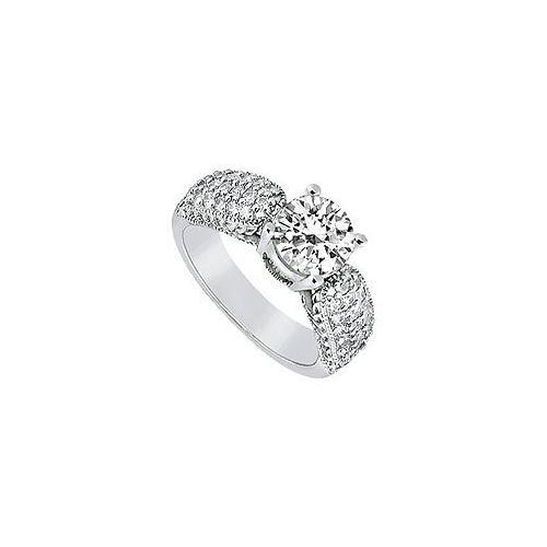 Diamond Engagement Ring : Platinum - 1.00 CT Diamonds-JewelryKorner-com