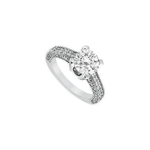 Diamond Engagement Ring : Platinum - 1.20 CT Diamonds-JewelryKorner-com