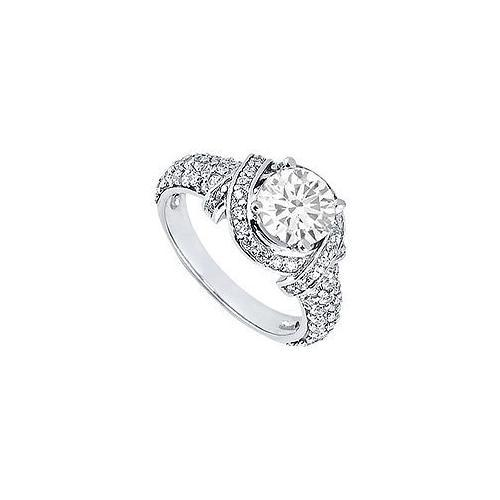 Diamond Engagement Ring : Platinum – 1.25 CT Diamonds-JewelryKorner-com