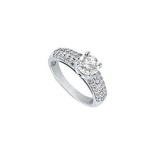 Diamond Engagement Ring : Platinum - 1.25 CT Diamonds-JewelryKorner-com