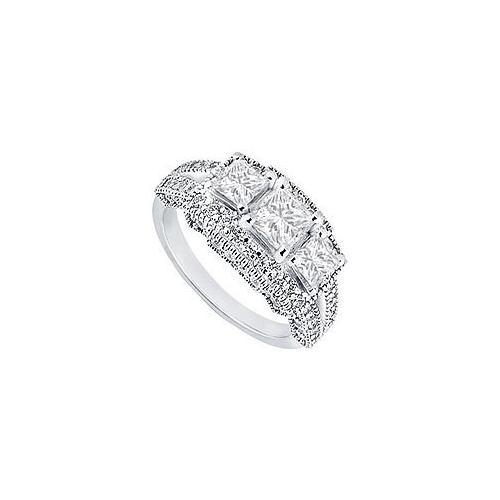 Diamond Engagement Ring : Platinum - 1.50 CT Diamonds-JewelryKorner-com
