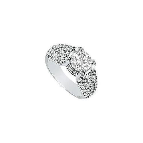 Diamond Engagement Ring : Platinum - 2.00 CT Diamonds-JewelryKorner-com
