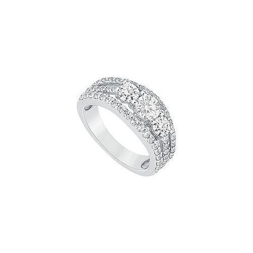 Diamond Engagement Ring : Platinum - 2.25 CT Diamonds-JewelryKorner-com
