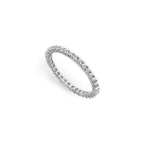 Diamond Eternity Band : 14K White Gold - 0.50 CT Diamonds-JewelryKorner-com