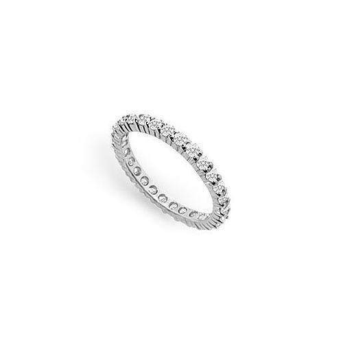 Diamond Eternity Band : 14K White Gold - 0.75 CT Diamonds-JewelryKorner-com