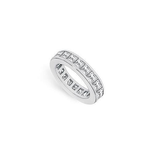 Diamond Eternity Band : 14K White Gold - 2.50 CT Diamonds-JewelryKorner-com