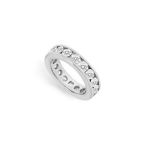 Diamond Eternity Band : 14K White Gold - 3.00 CT Diamonds-JewelryKorner-com