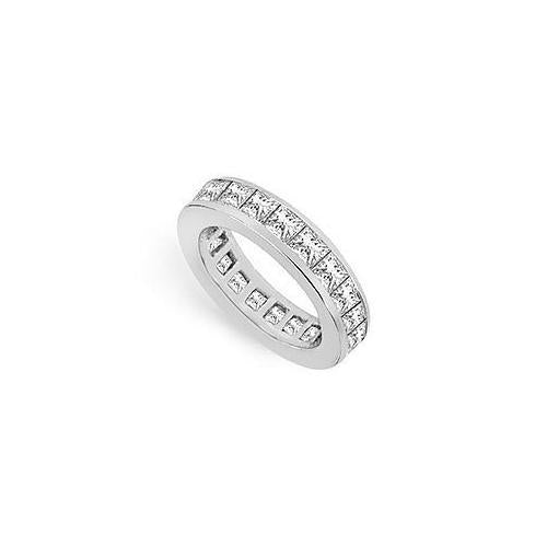 Diamond Eternity Band : 14K White Gold - 3.50 CT Diamonds-JewelryKorner-com