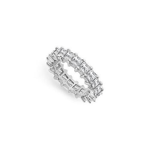 Diamond Eternity Band : 14K White Gold - 4.00 CT Diamonds-JewelryKorner-com