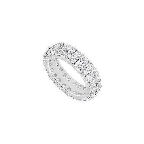 Diamond Eternity Band : 14K White Gold - 5.00 CT Diamonds-JewelryKorner-com