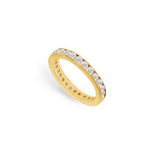 Diamond Eternity Band : 14K Yellow Gold - 0.75 CT Diamonds-JewelryKorner-com
