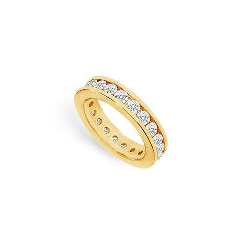 Diamond Eternity Band : 14K Yellow Gold - 2.00 CT Diamonds-JewelryKorner-com