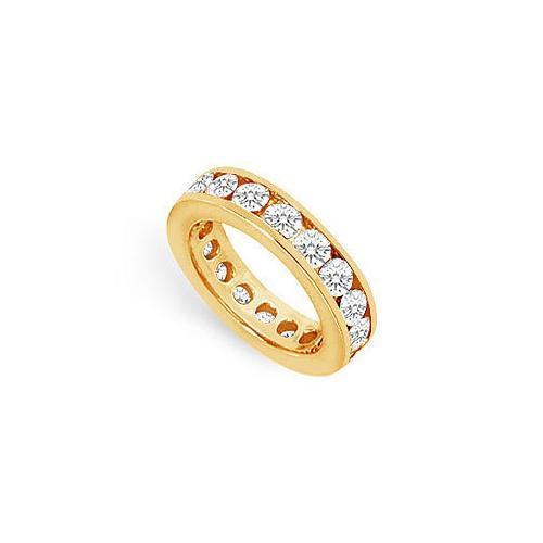 Diamond Eternity Band : 14K Yellow Gold - 3.00 CT Diamonds-JewelryKorner-com