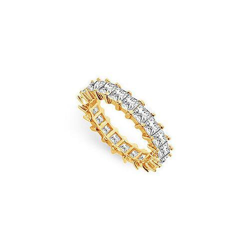 Diamond Eternity Band : 14K Yellow Gold - 3.50 CT Diamonds-JewelryKorner-com
