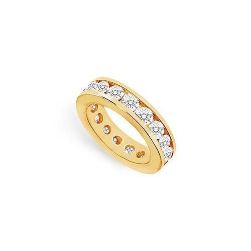Diamond Eternity Band : 14K Yellow Gold - 4.00 CT Diamonds-JewelryKorner-com