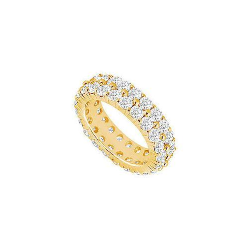 Diamond Eternity Band : 14K Yellow Gold - 5.00 CT Diamonds-JewelryKorner-com
