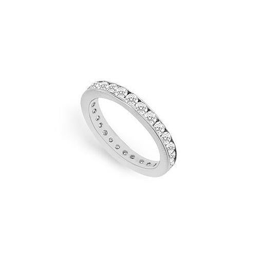 Diamond Eternity Band : 18K White Gold - 0.75 CT Diamonds-JewelryKorner-com