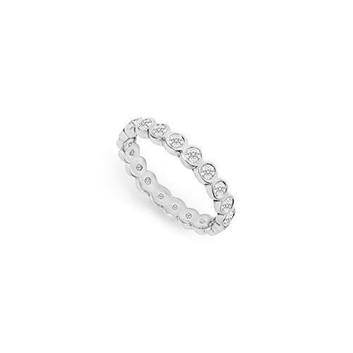 Diamond Eternity Band : 18K White Gold - 1.00 CT Diamonds-JewelryKorner-com