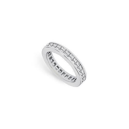 Diamond Eternity Band : 18K White Gold – 1.00 CT Diamonds-JewelryKorner-com