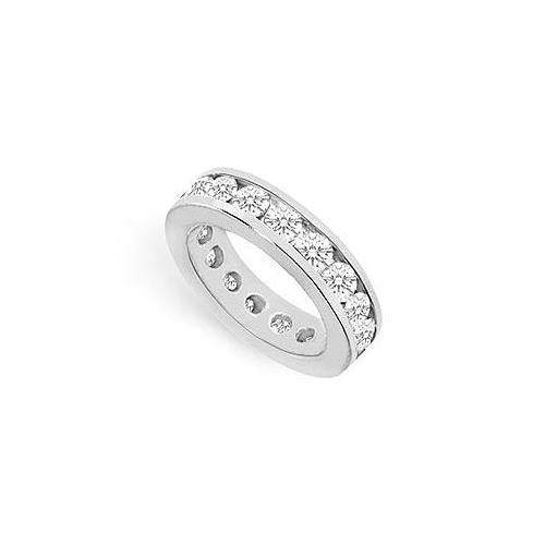 Diamond Eternity Band : 18K White Gold – 4.00 CT Diamonds-JewelryKorner-com