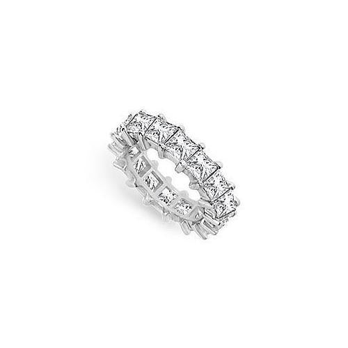 Diamond Eternity Band : 18K White Gold – 5.00 CT Diamonds-JewelryKorner-com