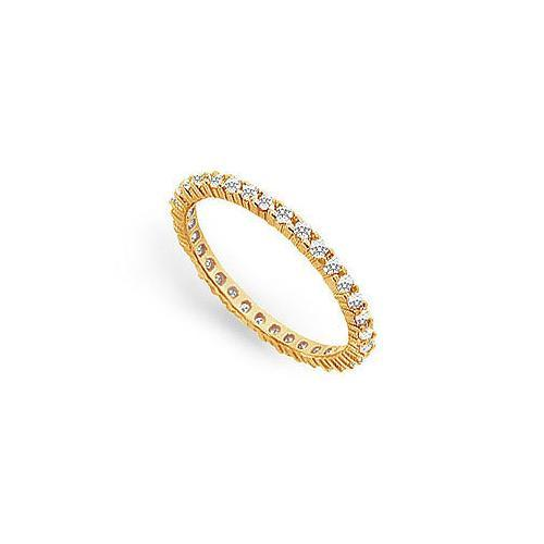 Diamond Eternity Band : 18K Yellow Gold – 0.50 CT Diamonds-JewelryKorner-com