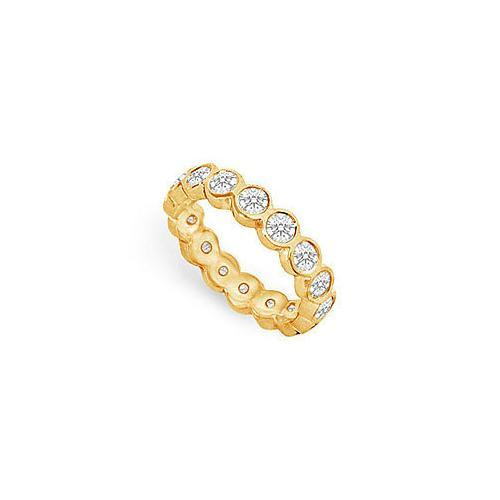 Diamond Eternity Band : 18K Yellow Gold - 1.50 CT Diamonds-JewelryKorner-com