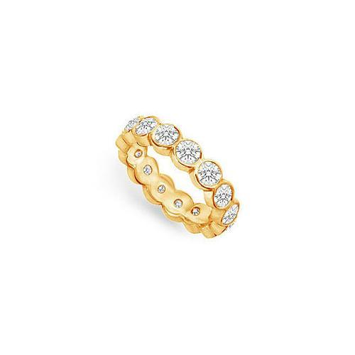 Diamond Eternity Band : 18K Yellow Gold – 2.00 CT Diamonds-JewelryKorner-com