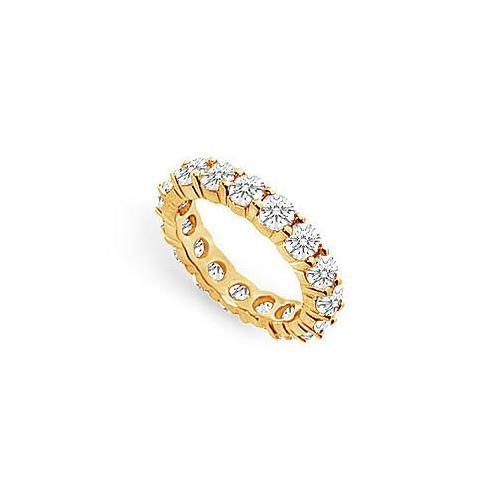 Diamond Eternity Band : 18K Yellow Gold – 4.00 CT Diamonds-JewelryKorner-com