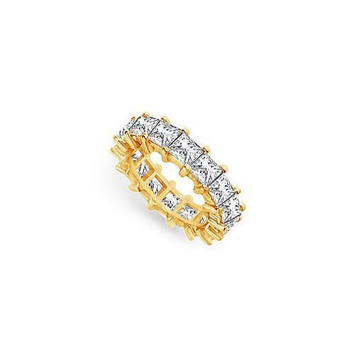 Diamond Eternity Band : 18K Yellow Gold – 5.00 CT Diamonds-JewelryKorner-com