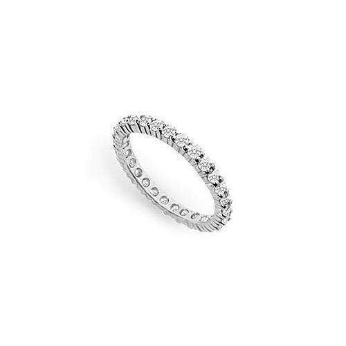 Diamond Eternity Ring : 14K White Gold - 1.00 CT Diamonds-JewelryKorner-com