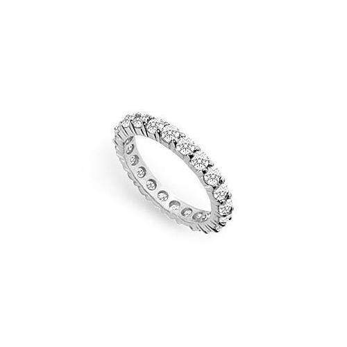 Diamond Eternity Ring : 14K White Gold - 2.00 CT Diamonds-JewelryKorner-com