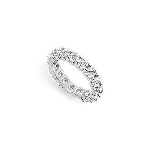 Diamond Eternity Ring : 14K White Gold - 4.00 CT Diamonds-JewelryKorner-com