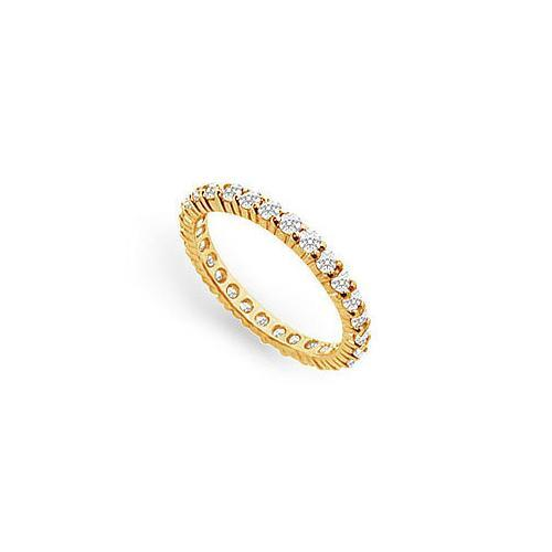 Diamond Eternity Ring : 14K Yellow Gold - 1.00 CT Diamonds-JewelryKorner-com