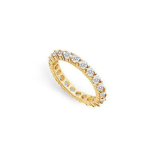 Diamond Eternity Ring : 14K Yellow Gold - 2.50 CT Diamonds-JewelryKorner-com