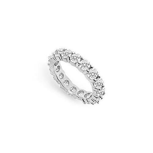 Diamond Eternity Ring : 18K White Gold - 4.00 CT Diamonds-JewelryKorner-com