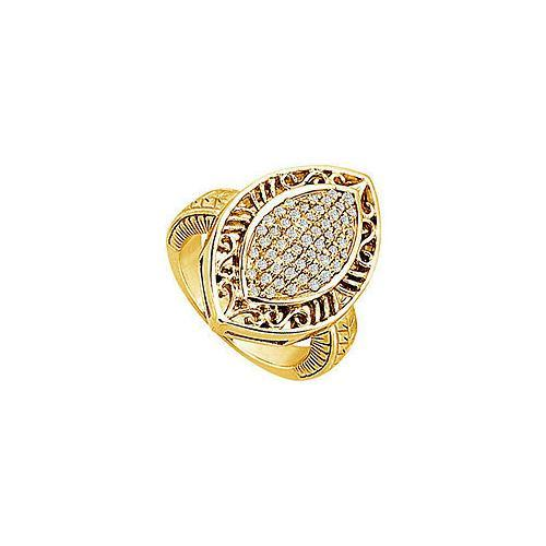 Diamond Marquise Ring : 14K Yellow Gold - 0.50 CT Diamonds-JewelryKorner-com