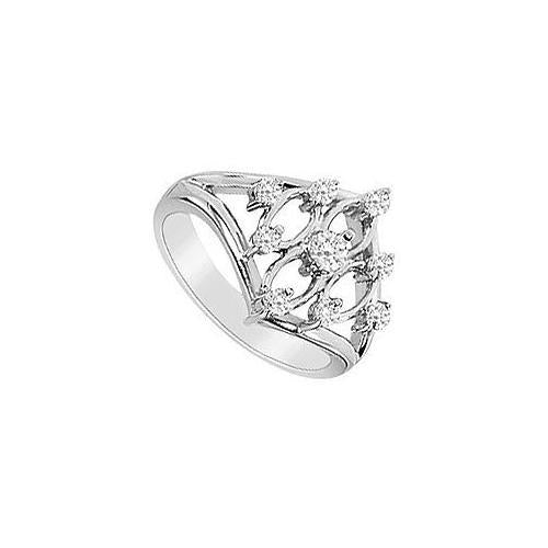 Diamond Ring : 14K White Gold - 0.33 CT Diamonds-JewelryKorner-com