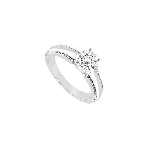 Diamond Ring : 14K White Gold - 0.50 CT Diamond-JewelryKorner-com