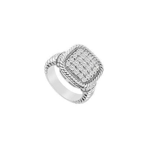 Diamond Ring : 14K White Gold - 0.75 CT Diamonds-JewelryKorner-com