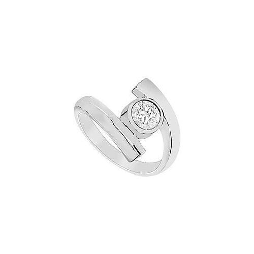 Diamond Ring : 14K White Gold - 1.00 CT Diamond-JewelryKorner-com