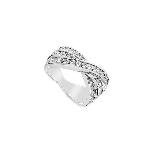 Diamond Ring : 14K White Gold - 1.25 CT Diamonds-JewelryKorner-com