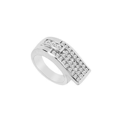 Diamond Ring : 14K White Gold - 1.50 CT Diamonds-JewelryKorner-com